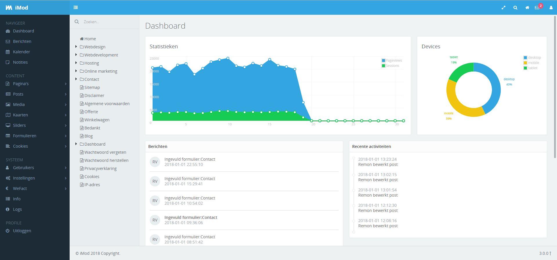 Dashboard iMod 3.0