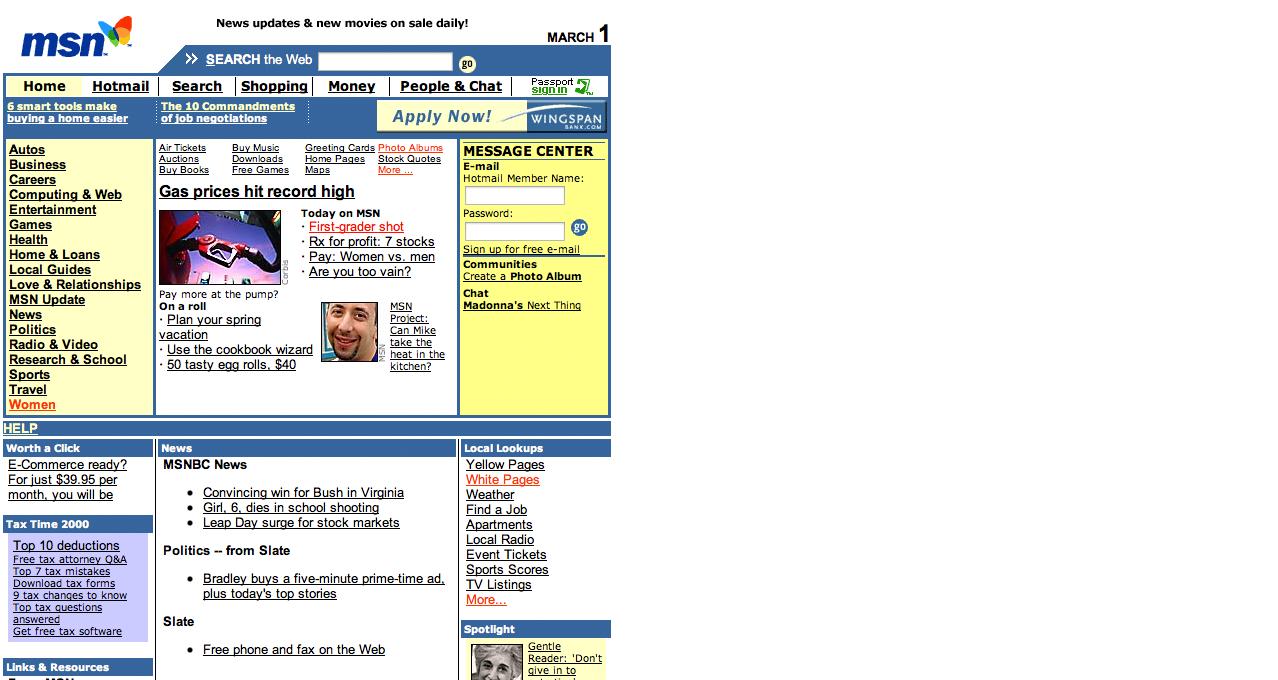 MSN in 1996